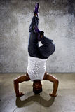 Inverted Urban Break Dancer Stock Photography