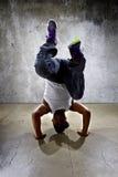 Inverted Urban Break Dancer Stock Images