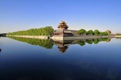 inverterad beijing stad förbjuden bild Arkivbilder