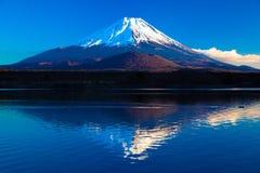 Inverterad bild av Mount Fuji - den blåa himlen Royaltyfri Fotografi