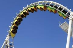 Inverterad Rollercoaster Arkivfoto