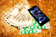 Invesment background to rich concept invest,passbook cash money Stock Photo