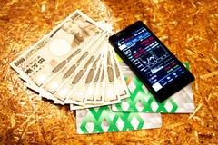 Invesment tło bogaty pojęcie inwestuje, passbook gotówkowy pieniądze Zdjęcie Stock