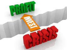INVEST是从赢利的危机的桥梁。 免版税库存图片