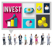 Invest Analysis Financial Economy Planning Concept Stock Photography