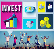 Invest Analysis Financial Economy Planning Concept Royalty Free Stock Photography