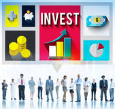 Invest Analysis Financial Economy Planning Concept Stock Image