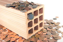 Invest in bricks and mortar Royalty Free Stock Photo
