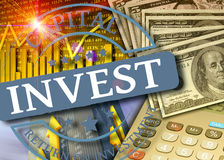 Invest concept. Investment in financial markets as concept vector illustration