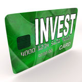 Invest on Credit Debit Card Shows Investing Money Stock Images