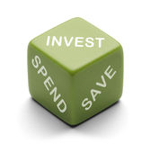 Invest Dice Royalty Free Stock Images