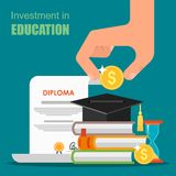 Invest in education concept. Vector illustration Stock Photo