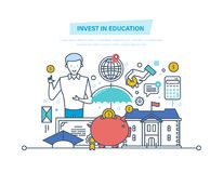 Invest in education. Financial investments in education, getting prestigious education. Invest in education. Financial investments in education, getting Stock Photography