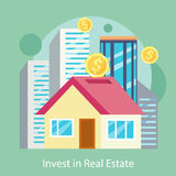 Invest in Estate Built Offices, Apartments, Houses Royalty Free Stock Image