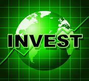 Invest Graph Means Return On Investment And Finance Royalty Free Stock Photo