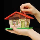 Invest in house property. Invest and save house property Royalty Free Stock Photos