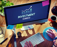 Invest Investment Financial Income Profit Costs Concept Stock Image