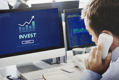 Invest Investment Financial Income Profit Costs Concept Stock Photos