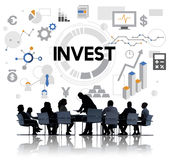 Invest Investment Financial Income Profit Costs Concept Stock Images