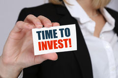Invest investment investor finance financial finances money busi Royalty Free Stock Photography