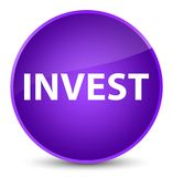 Invest elegant purple round button. Invest isolated on elegant purple round button abstract illustration Royalty Free Stock Photos