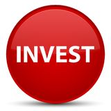 Invest special red round button. Invest isolated on special red round button abstract illustration Stock Images