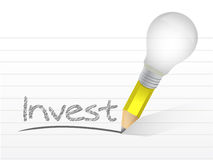 Invest message illustration design Stock Photo