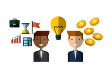 Invest money and business design Royalty Free Stock Images