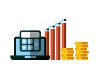Invest money and business design Royalty Free Stock Photo