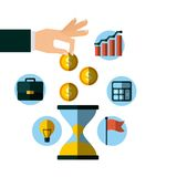 Invest money and business design Royalty Free Stock Photos