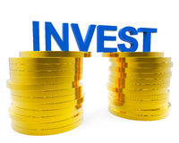 Invest Money Indicates Finance Investor And Roi Royalty Free Stock Images
