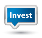 Invest prime blue banner button Royalty Free Stock Photo