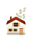 Invest in real estate in USA Dollars Stock Photo
