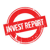 Invest Report rubber stamp Royalty Free Stock Images
