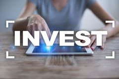 Invest. Return on investment. Financial growth. Technology and business concept. Invest. Return on investment. Financial growth. Technology and business concept Royalty Free Stock Images