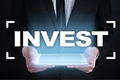 Invest. Return on investment. Financial growth. Technology and business concept. Invest. Return on investment. Financial growth. Technology and business concept Stock Photography