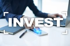 Invest. Return on investment. Financial growth. Technology and business concept. Invest. Return on investment. Financial growth. Technology and business concept Royalty Free Stock Photo