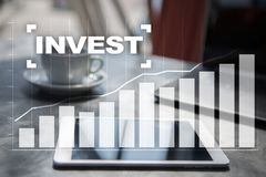 Invest. Return on investment. Financial growth. Technology and business concept. Invest. Return on investment. Financial growth. Technology and business concept Royalty Free Stock Photos