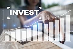 Invest. Return on investment. Financial growth. Technology and business concept. Invest. Return on investment. Financial growth. Technology and business concept Stock Images