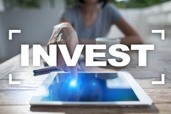 Invest. Return on investment. Financial growth. Technology and business concept Stock Images
