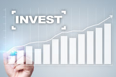 Invest. Return on investment. Financial growth. Technology and business concept Stock Photos