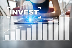 Invest. Return on investment. Financial growth. Technology and business concept. Stock Image
