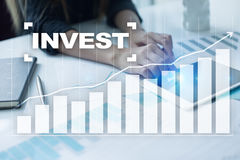 Invest. Return on investment. Financial growth. Technology and business concept Royalty Free Stock Images