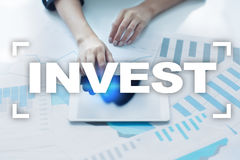 Invest. Return on investment. Financial growth. Technology and business concept. Stock Photography