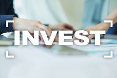 Invest. Return on investment. Financial growth. Technology and business concept. Invest. Return on investment. Financial growth. Technology and business concept Royalty Free Stock Photography