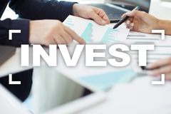 Invest. Return on investment. Financial growth. Technology and business concept. Invest. Return on investment. Financial growth. Technology and business concept Stock Image