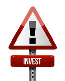Invest road sign illustration design Royalty Free Stock Image
