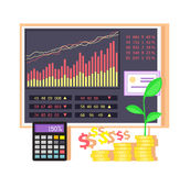 Invest in Shares Concept Icon Flat Design Stock Photography