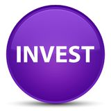 Invest special purple round button. Invest isolated on special purple round button abstract illustration Stock Photos