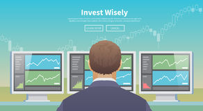 Invest wisely. Vector illustration. Royalty Free Stock Photography